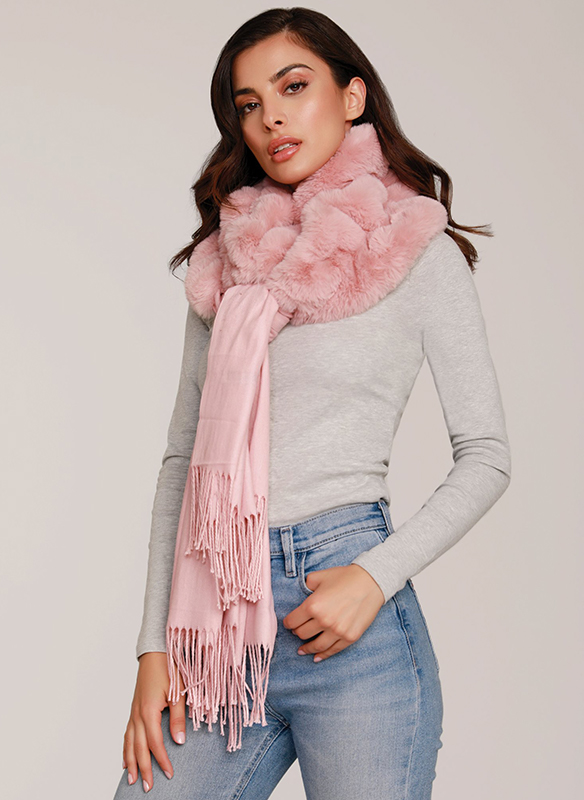 Dolce Cabo Faux Fur Knit Scarf