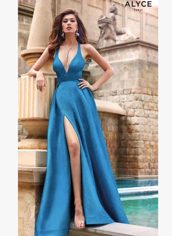 Alyce Paris Glitter Gown – Ocean