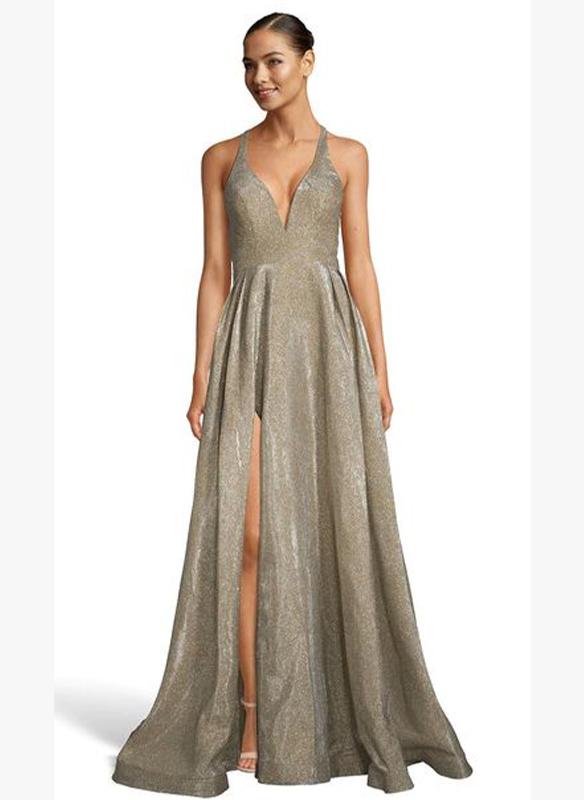 Alyce Paris Glitter Gown – Antique Gold