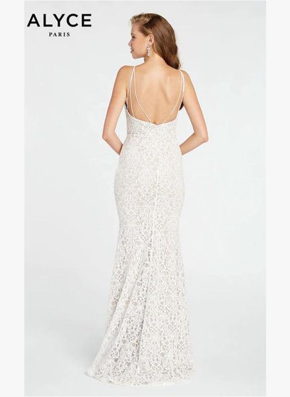 Alyce Paris Lace V Neck Gown2
