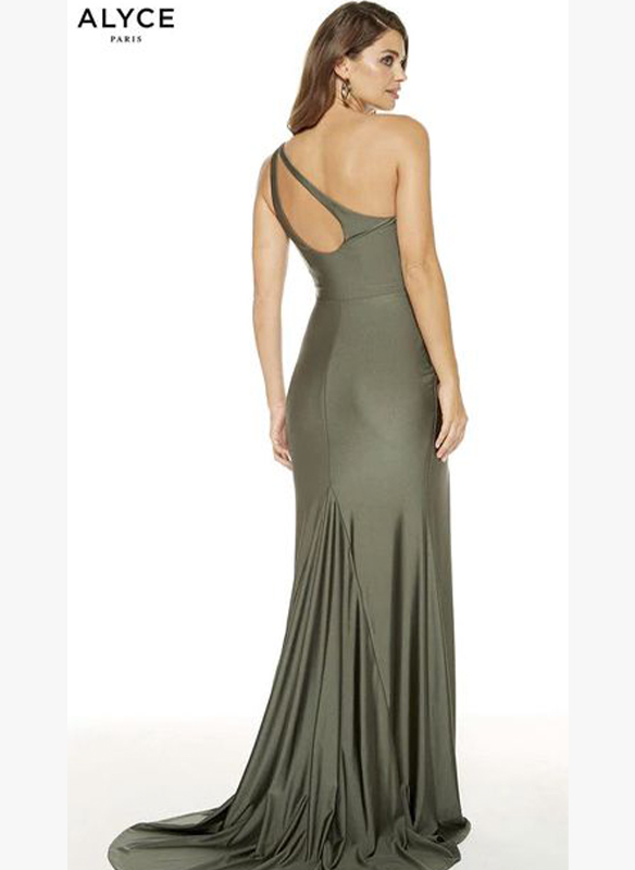 Alyce Paris One Shoulder Jersey Gown