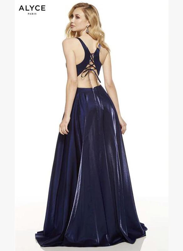 Alyce Paris Shimmer Satin Aline Gown – Olive