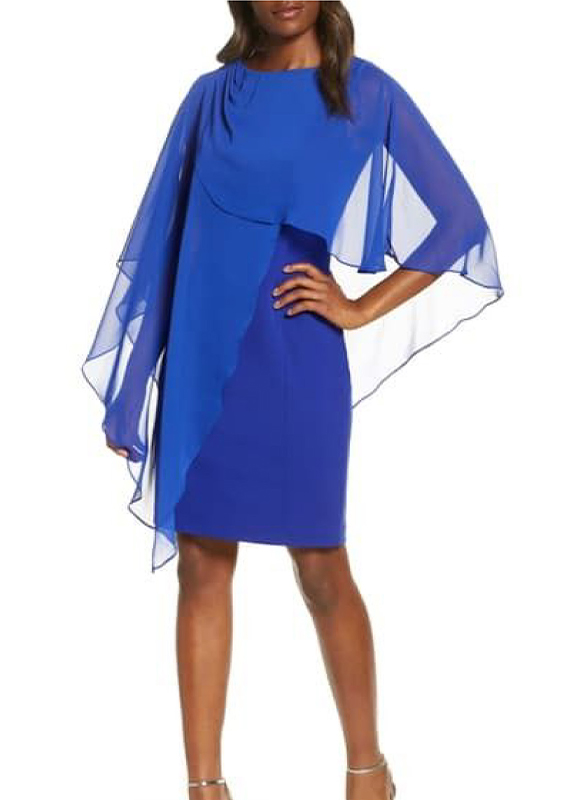 Eliza J Cape Cocktail Dress