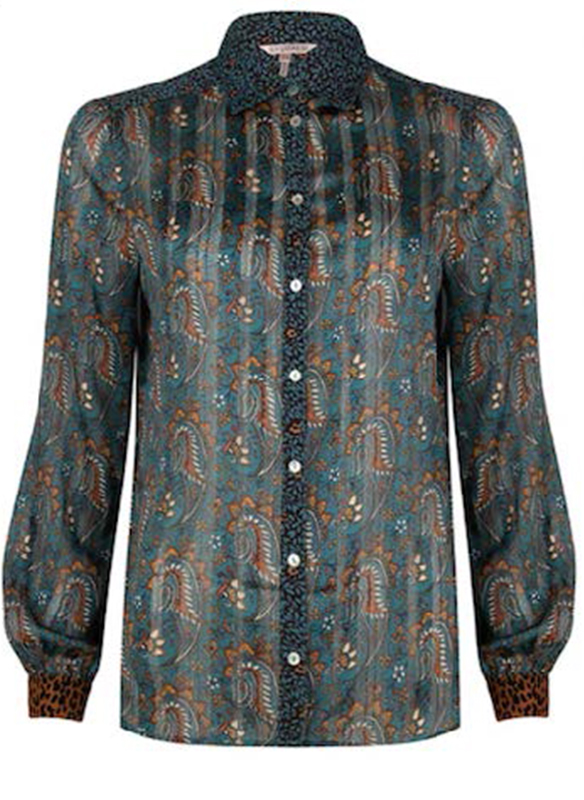Esqualo Mixed Pattern Blouse