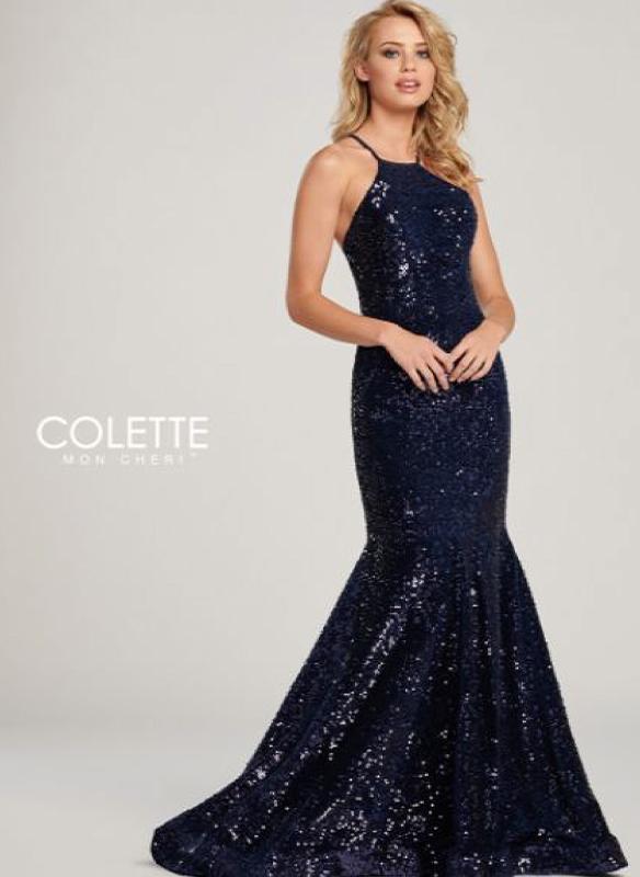 Colette Sequin Velvet Gown