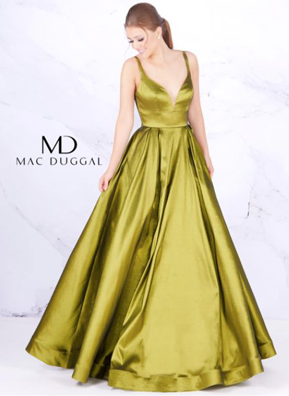 Mac Duggal Metallic Ball Gown