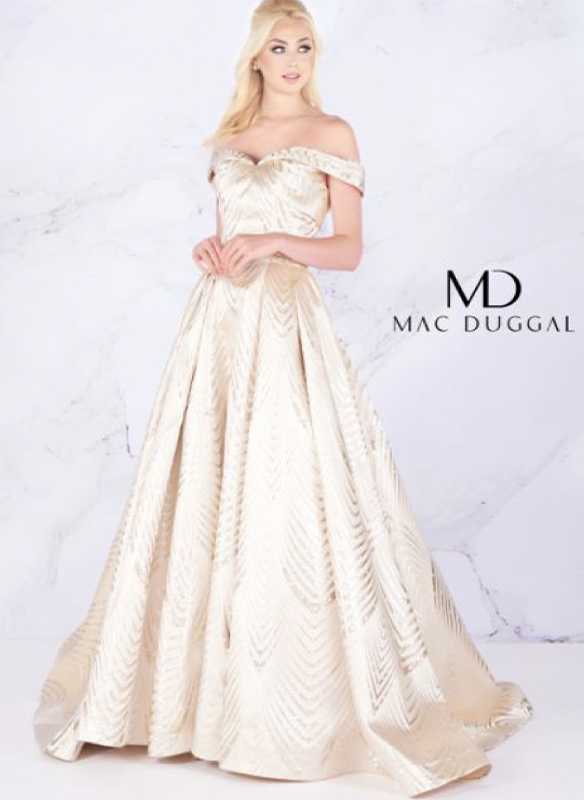 Mac Duggal Off Shoulder Ball Gown