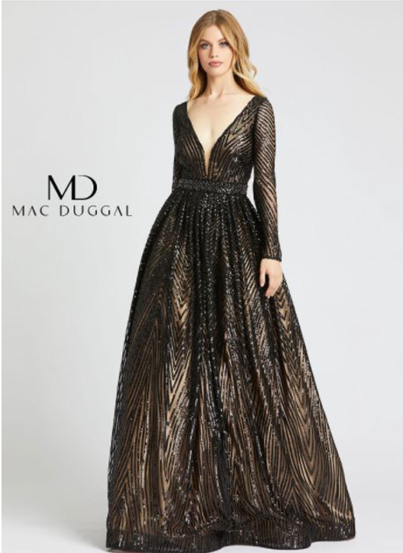Mac Duggal Sequin Ball Gown