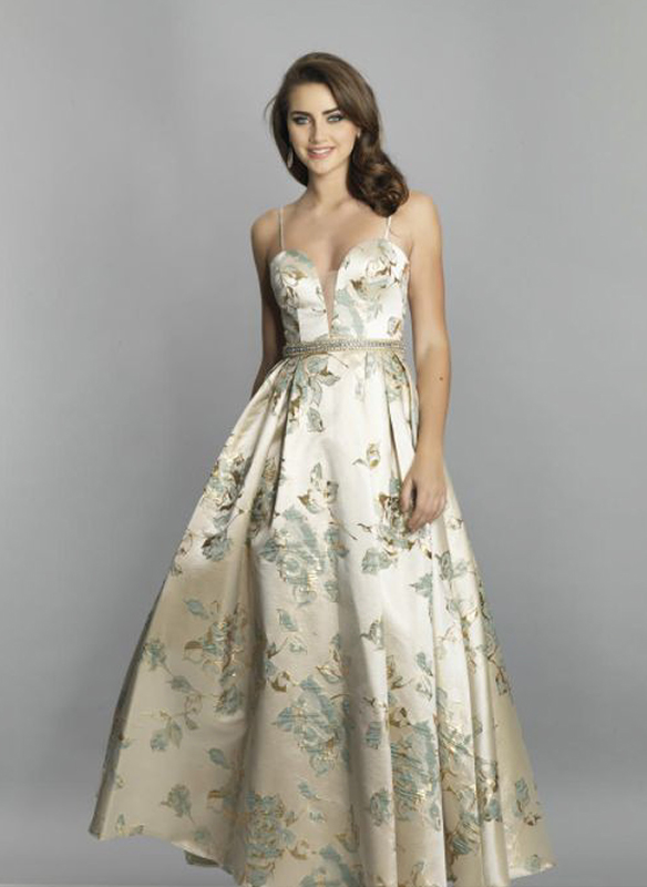 Dave and Johnny Ball Gown – Mint