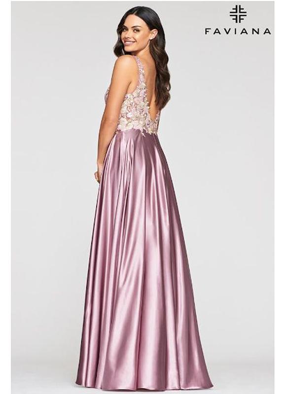 Faviana Charmeuse Ball Gown – Mauve