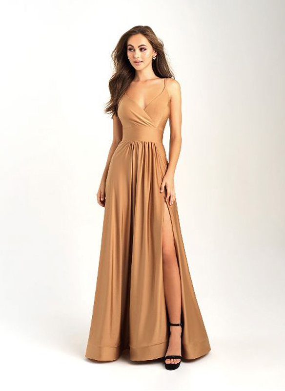 Madison James A-line Gown – Gold