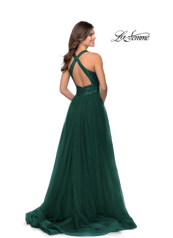 La Femme A-line Tulle Gown