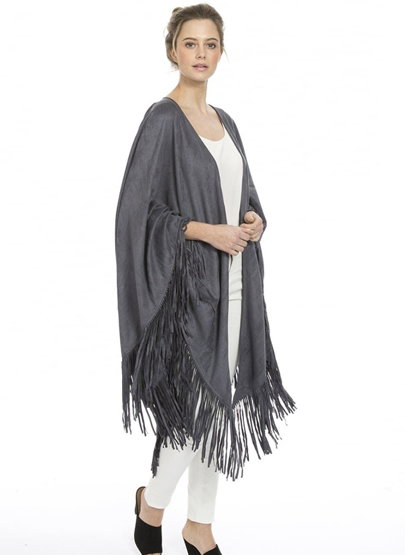 Jayley Faux Suede Cape