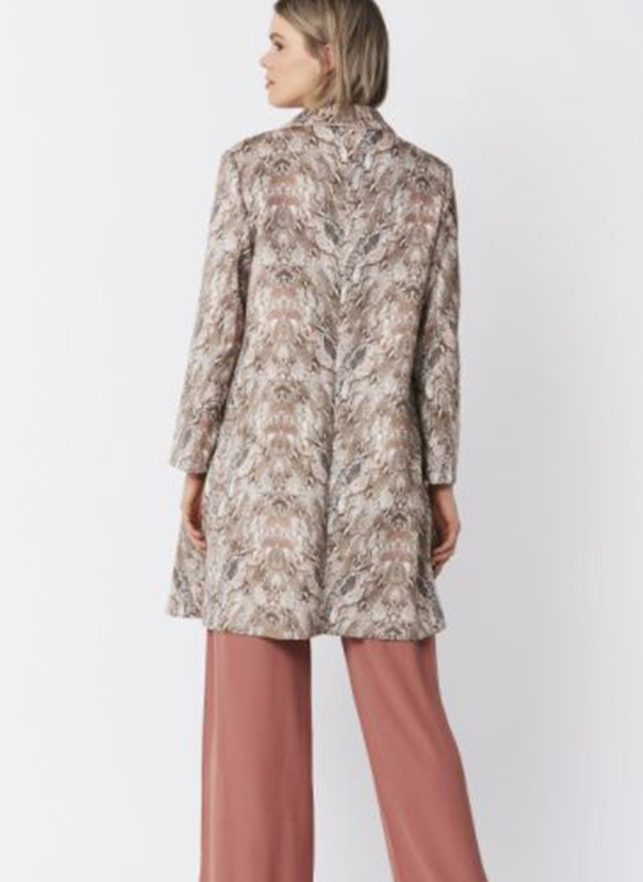 Jayley Faux Suede Snakeskin Trench Jacket2