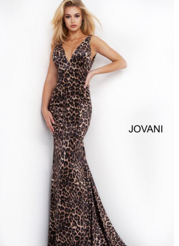 Jovani Animal Velvet Gown