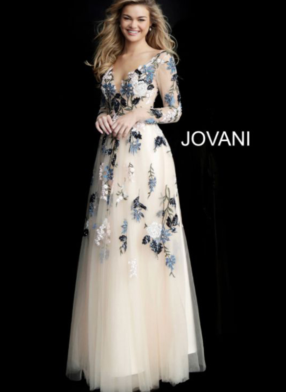 Jovani Embroidered Gown