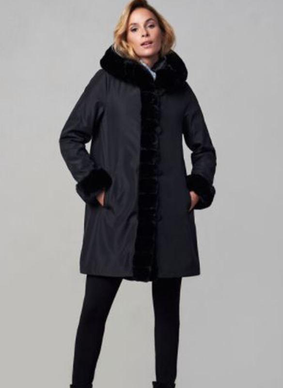 Nuage Reversible Faux Fur Coat2