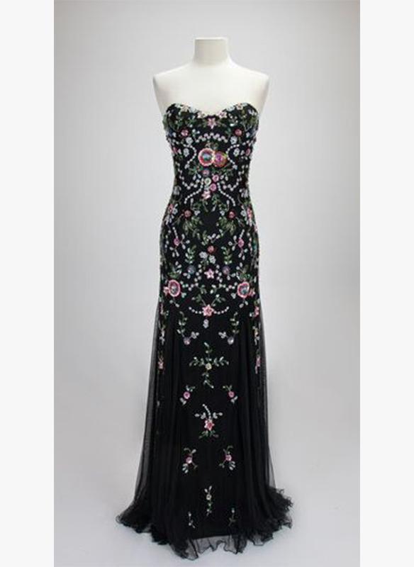 Paul Rekhi Embellished Floral Gown