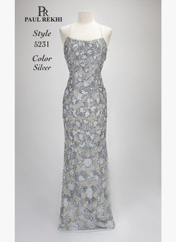 Paul Rekhi Fully Beaded Gown1