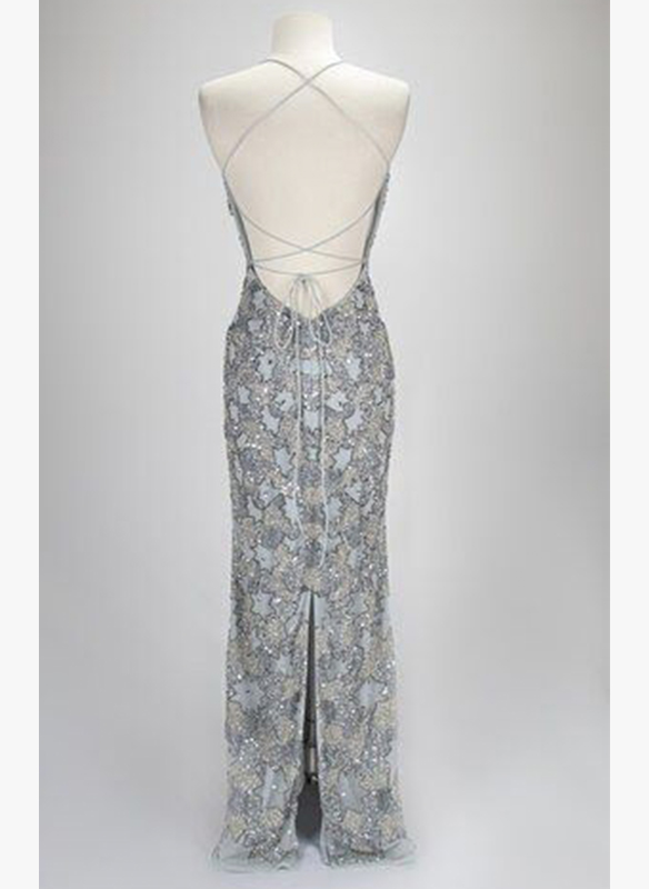 Paul Rekhi Fully Beaded Gown2