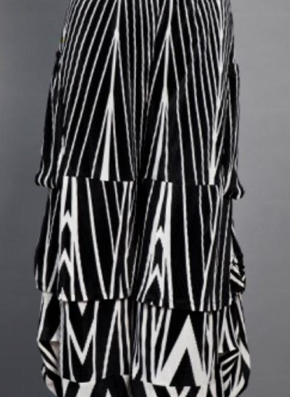 Samuel Dong Print Crinkle Knit Capri