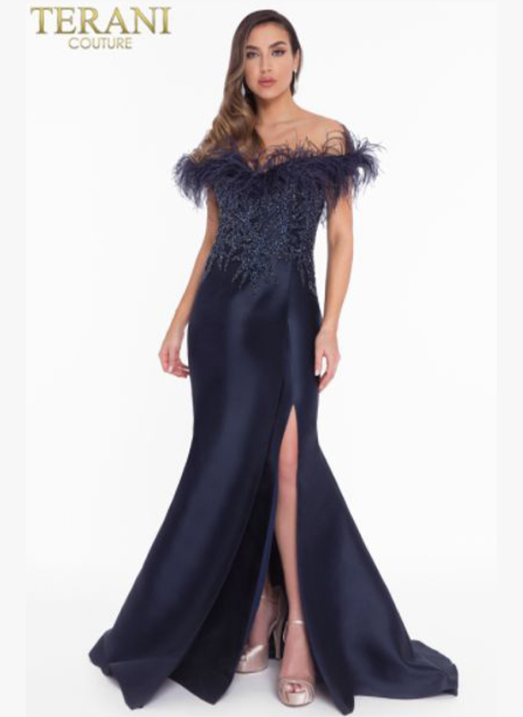 Terani Feather Gown