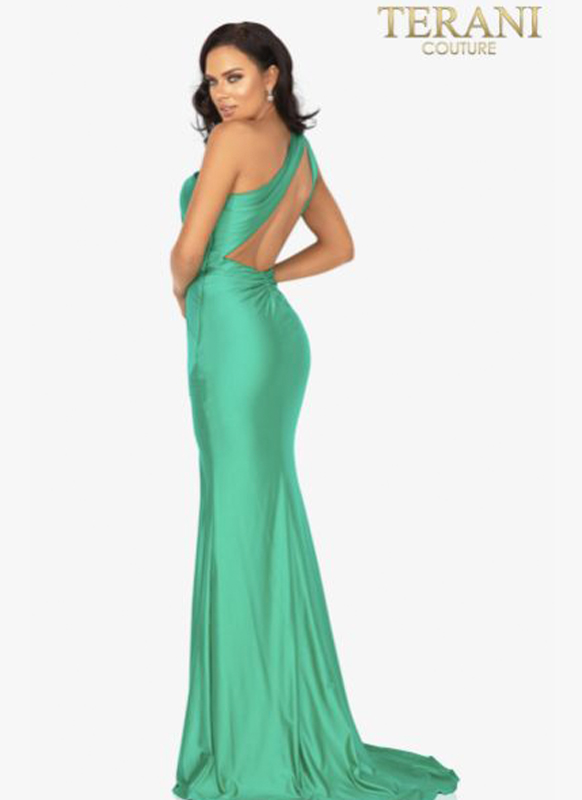 Terani One Shoulder Gown