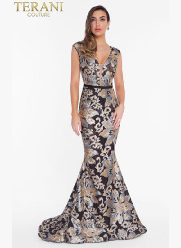 Terani Sequined Gown1