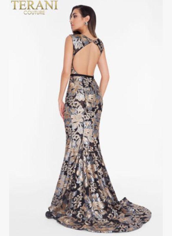 Terani Sequined Gown2