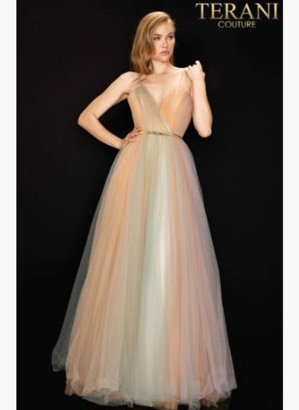 Terani Tri-Color Ball Gown