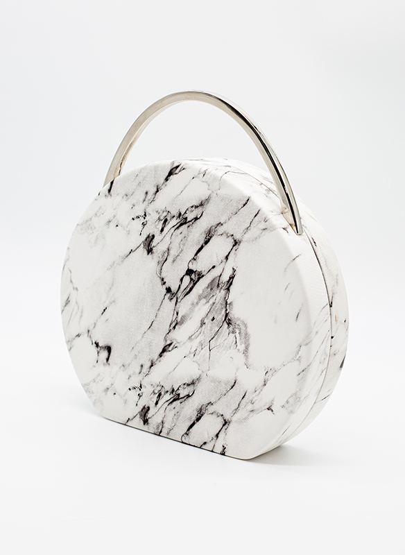 Urban Expressions Vegan White & Black Marbled Leather Bag