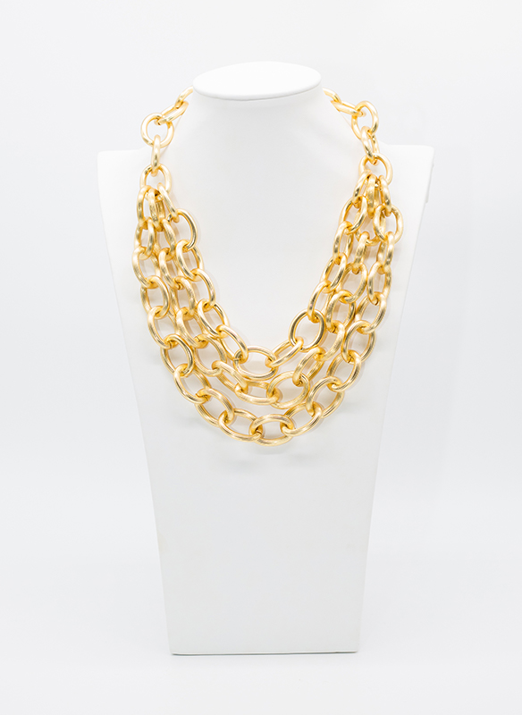 Karina Sultan Chunky Gold Chain Link Necklace