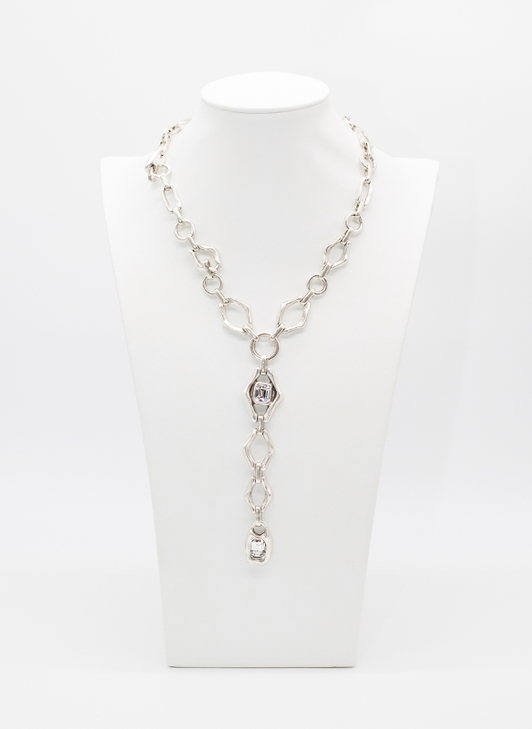 Chanour Crystal Pewter Necklace
