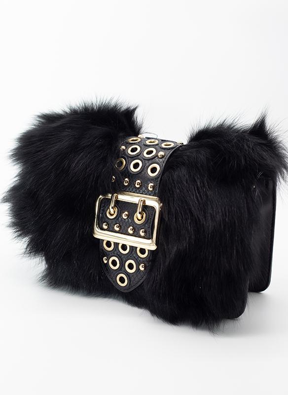 Jayley Fox Fur Leather Bag