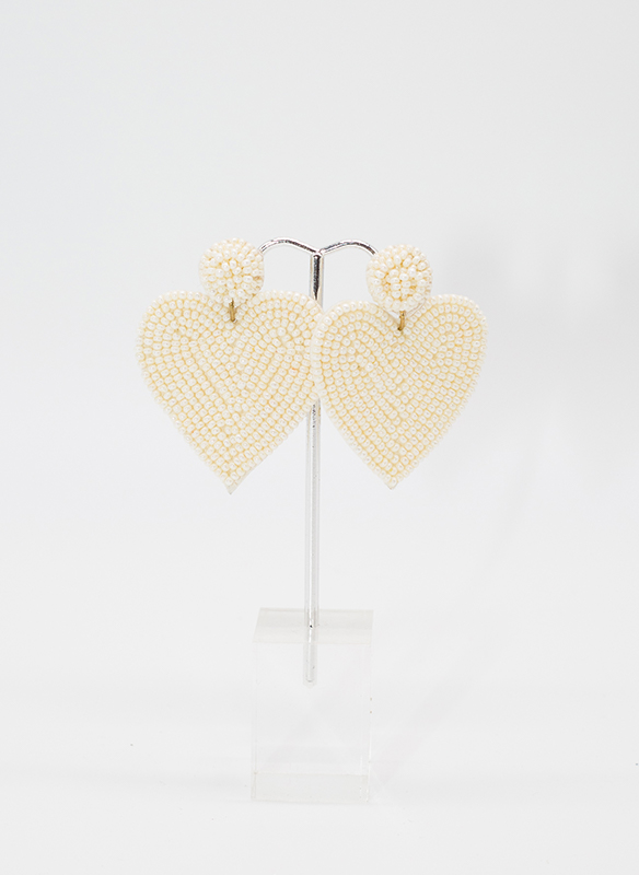G.S. Beaded Heart Earrings