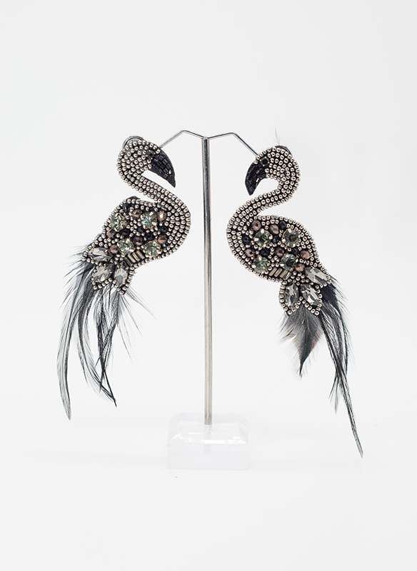 G.S. Bird and feather Earrings