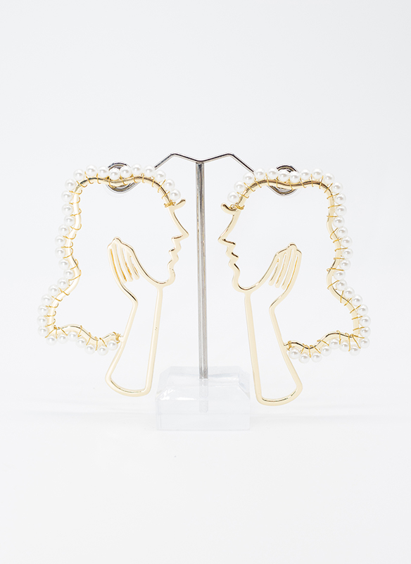 G. S. Pearl and Gold Picasso Earrings