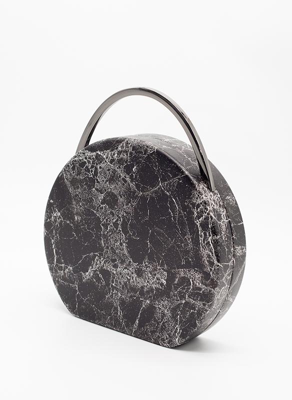Urban Expressions Vegan Black & White Marbled Leather Bag