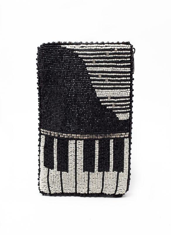 Mary Frances – Well Played Beaded Piano Crossbody Phone Bag