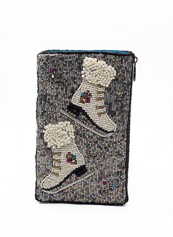 Mary Frances – Ice Skate Beaded Phone Crossbody