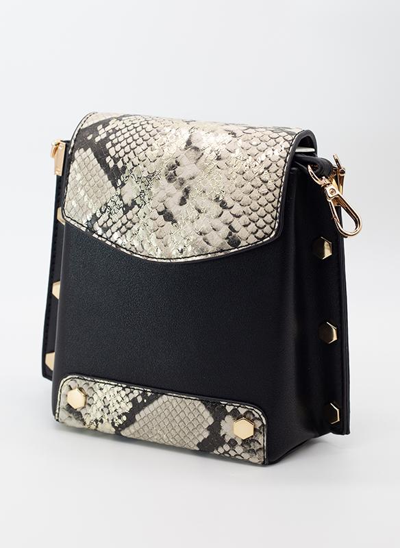 Urban Expressions Vegan Gold Foil Snakeskin Leather Bag