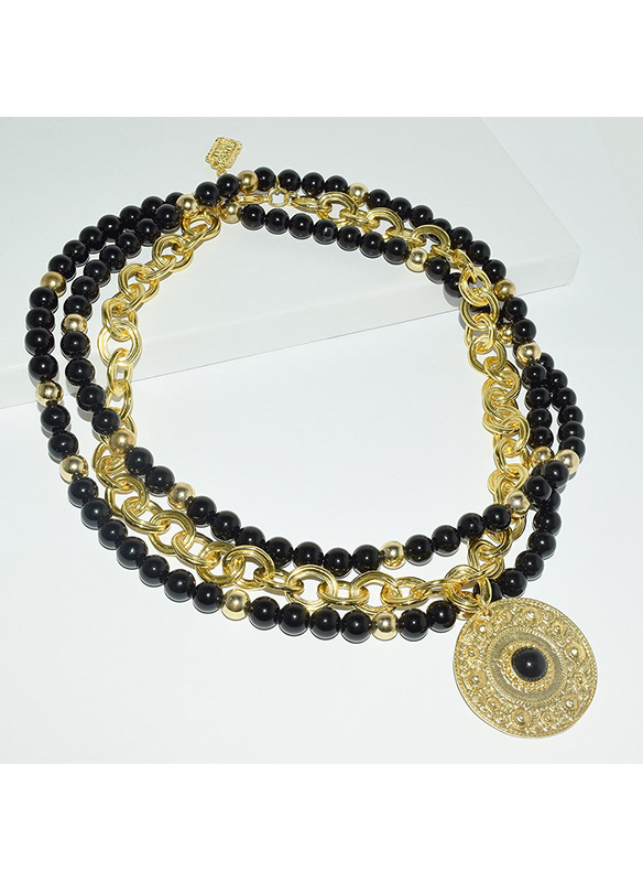 Karina Sultan Gold and Black Necklace