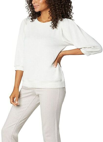 Liverpool Puffed Sleeve Knit Top