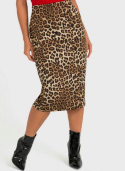 Joseph Ribkoff Leopard Skirt