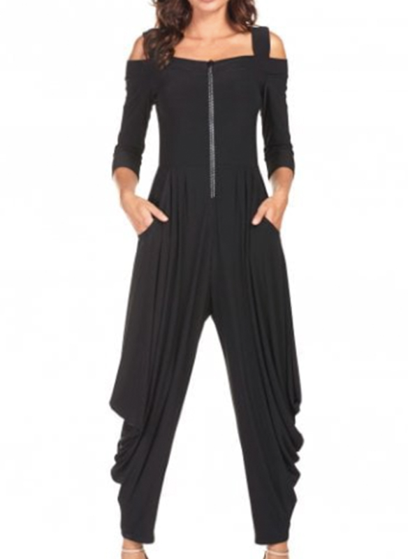 Frank Lyman Cold Shoulder Jumpsuit