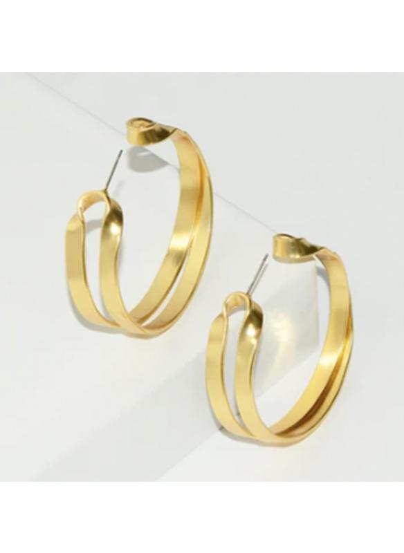 Karina Sultan Double Gold Hoop Earrings