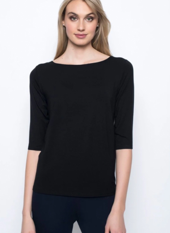 Picadilly Three Quarter Sleeve Knit Top