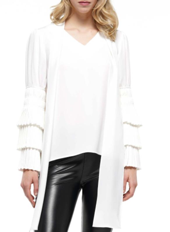 Why Dress Ruffle Sleeve Blouse