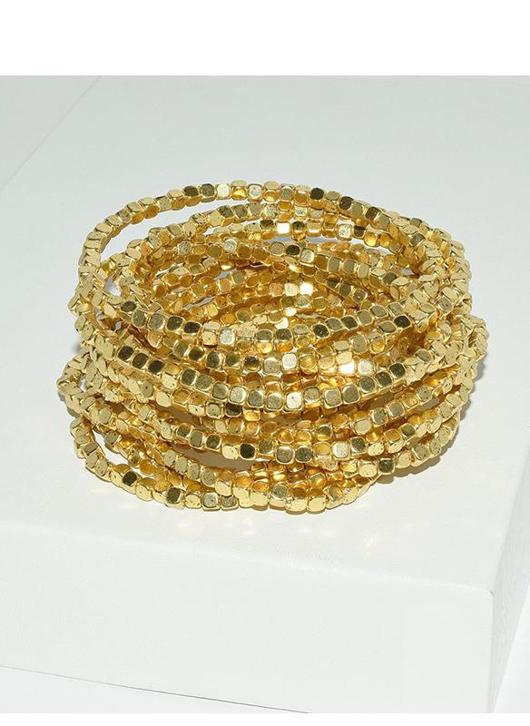 Karina Sultan Gold Multi Strand Bracelet