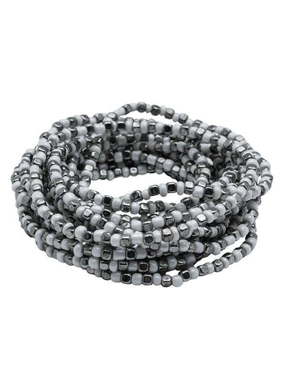 Karina Sultan Silver and White Multi Strand Bracelet